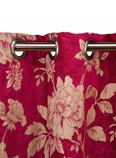 A Loja do Gato Preto | Cortinado Windsor Flores Rosa #alojadogatopreto