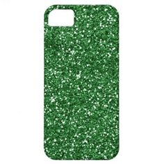 Girly Green Glitter Effect On An  iPhone 5 case
