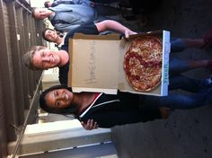 He asked this lovely girl to go to #homecoming by presenting her with this #pizza from #FreshBrothers.  #Shesaidyes ! From our friends at www.Mogl.com.  How cute is this?