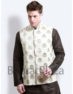 Pakistani Style Waist Coat Item code : NJ109  http://www.bharatplaza.com/pakistani-style-waist-coat-nj109.html