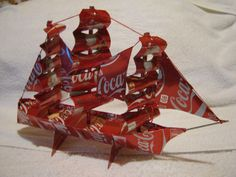 Hey, I found this really awesome Etsy listing at https://www.etsy.com/listing/150967174/recycled-handmade-coca-cola-ship