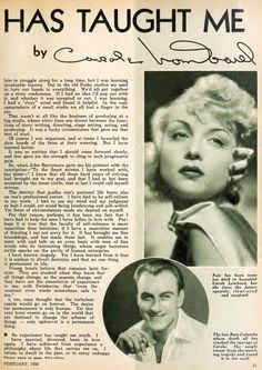 Many outsiders might have been tempted to doubt Carole Lombard's resiliency as 1934 transitioned to While professionally, her star was rising thanks to her triumph in the previous spring's Golden Age Of Hollywood, Classic Hollywood, Old Hollywood, Hollywood Glamour, Tragic Love, Carole Lombard, Classic Actresses, Old Tv Shows, Old Movies