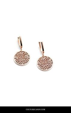 Tresor Collection - Signature Logo Earrings In 18k Rose Gold With Diamonds | www.couturecandy.com
