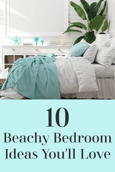 Want to feel like you are on vacation every day? Then you might love a beachy bedroom theme. Soft blues and greens and sandy neutrals. Lots of natural materials. Beacy themed rooms are comfortable and beautiful.