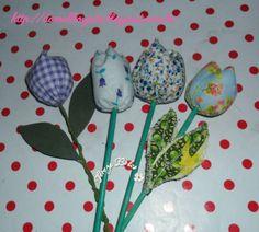 flores de tecido-tulipas