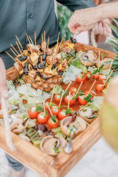 A Tropical Destination Wedding at Ak'iin Beach Club in Tulum Hawaii Wedding, Destination Wedding, Wedding Food Bars, Wedding Ideas Board, Tadashi Shoji Dresses, Groom Shoes, Mod Wedding, Wedding Bells, Unique Wedding Favors