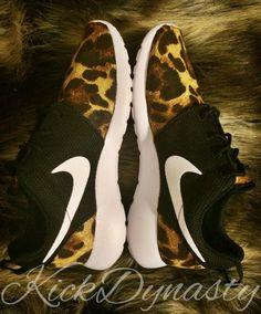 d51166ed5ed Leopard Cheetah Animal Print Nike Roshe Run Custom by KickDynasty Cheetah  Nikes