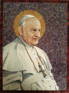 Saint John XXIII made by studio Mosaico Arte e Mestieri, glass mosaic. http://mosaico-arte-mestieri.com/