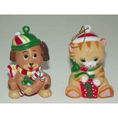 Set Of Cat And Dog Christmas Cuties Christmas Tree Ornaments