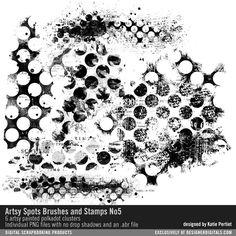 Artsy Spots Brushes, Stamps and Layers No. 05 artsy painted polkadots #designerdigitals