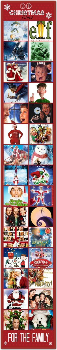 The Christmas movie list
