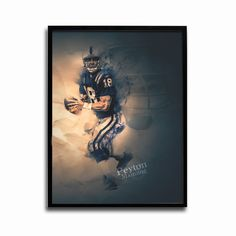 Indianapolis Colts Peyton Manning Legends 24x18 Football Poster
