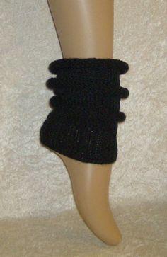 """Handgestrickte Boot Cuffs """"Black"""" von """"Verrückte Maschen""""  Strick- und Häkel-Design auf DaWanda.com"""