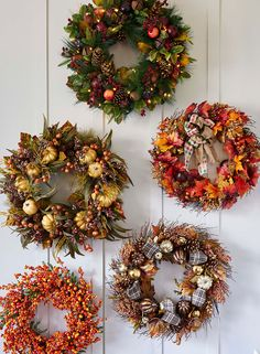 Decorate your home with the rich tones of autumn by adding one of our gorgeous fall wreaths.