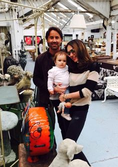 Tamara and Jay bring Sophia to Lots Road Auctions in Chelsea, London