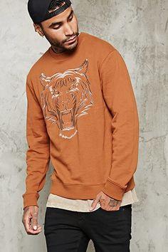 Embroidered Tiger Sweatshirt | 21 MEN - 2000231425