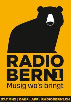 At. Radio BE1 Me App, Switzerland, Branding Design, Bears, Graphic Design, Logos, Cover, Poster, Brand Design