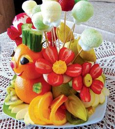 Kids fruit platter! #provestra