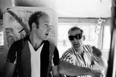 Author Ken Kesey and Beat legend Neal Cassady onboard the legendary Merry Pranksters' Day-Glo Bus in June 1964 in New York City, New York. Grateful Dead, Ken Kesey, Tom Wolfe, Beat Generation, Jack Kerouac, Beatnik, Forever Grateful, Great Stories, Writers