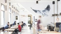 Sweet spot: Port Phillip's sea aromas mingle with those of the coffee at the airy corner known as Petty Officer.