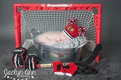 newborn photography, chicago blackhawks, nhl, hockey  www.jaclynannphoto.com