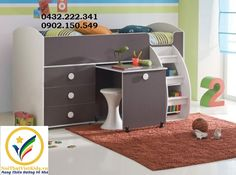 Student desk design and decorating are important elements of comfortable kids rooms with efficient and ergonomic studying areas Kids Bedroom Furniture, Smart Furniture, Home Decor Bedroom, Furniture Design, Bunk Bed With Trundle, Bunk Beds With Stairs, Cabin Bed With Desk, Mezzanine Design, Childrens Bunk Beds