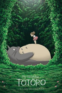 Totoro and Mei – Created by Kevin M. WilsonPrints available for sale at Hero Com… Totoro and Mei – Created Art Anime, Anime Kunst, Anime Artwork, Manga Anime, Studio Ghibli Films, Art Studio Ghibli, Studio Ghibli Poster, Hayao Miyazaki, Totoro Poster