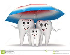 Illustration about smiling tooth family standing under a big toothpaste coated umbrella - health protection concept. Illustration of blue, illustration, dentistry - 34572160 Dental Logo, Dental Care, Dental Fun Facts, Cure Tooth Decay, Tooth Cartoon, Dental Posters, Sculpture Lessons, How To Prevent Cavities, Dental Office Design