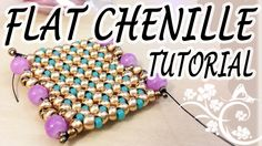 Flat Chenille Stitch Tutorial - A nice idea for a flat beadwork bracelet ~ Seed Bead Tutorials