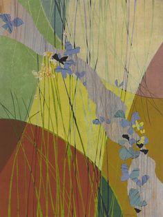 紫斑蝶的旅行 劉裕芳 複合媒材 81x61cm