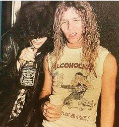 Joey Ramone & James Hetfield ,   1986. 'nuff said