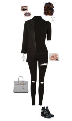 """""""8.8.16"""" by jesshorne2016 ❤ liked on Polyvore featuring Balenciaga, Topshop, Oasis, Smashbox, Michael Kors, Hermès and Marc by Marc Jacobs"""