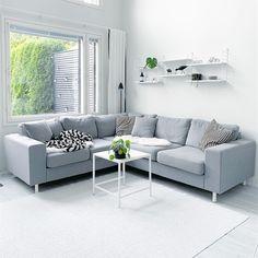 Arena-kulmasohva • @kaksio • www.finsoffat.fi/tuote/arena-kulmasohva Couch, Inspirational, Furniture, Instagram, Home Decor, Settee, Decoration Home, Room Decor, Sofas