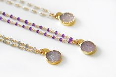 DRUZY coin rosary necklace