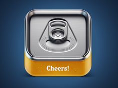Dribbble - Cheers beer IOS icon by Mikael Eidenberg