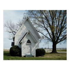 Little Country Church Print