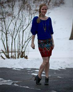 Workin' printed skirt - Work it Blog