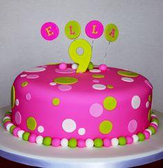 Pink Spotty Birthday Cake