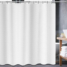 Avalon 70-Inch x 84-Inch Shower Curtain in White