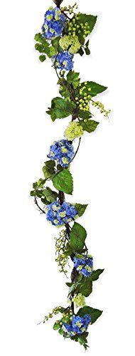 6 Blue Hydrangea Garland * You can find more details by visiting the image link.