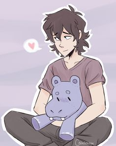 Keith and his stuffed plush hippo from Voltron Legendary Defender