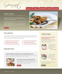 Gourmet Cook Website Templates by Di