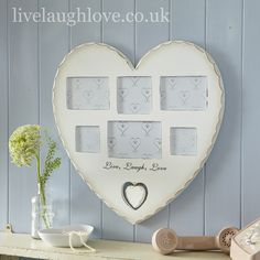 Live, Laugh, Love Large Heart Multi Frame £24.95