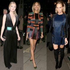 Cette semaine, les people de la mode s'étaient donné rendez-vous à l'ouverture de la première boutique de la marque à Londres. Les tops Lily Donaldson, Jourdan Dunn et Poppy Delevingne n'ont pas manqué à l'appel et ont fait honneur à leur hôte en portant des tenues dessinées par Olivier Rousteing, le créateur de la marque. http://www.elle.fr/Mode/La-mode-des-stars/Match-mode-qui-brille-le-mieux-en-Balmain-2934346