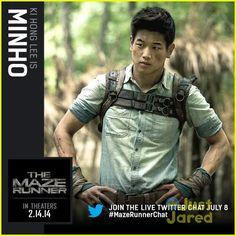 Minho: is een renner die elke dag op zoek gaat in het labyrint naar een uitweg. hij is ook de beste renner van de laar.