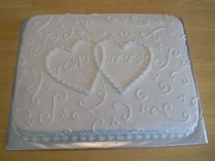 wedding cakes sheet cake | tony and beth sheet cake i did two sheet cakes like this to go with ...