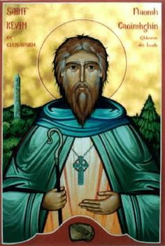 Kevin of Glendalough - OrthodoxWiki (possible St. Kevin tattoo?)