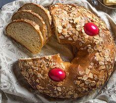 Γαλατερό ή αυγοκούλουρο τα πασχαλινό ψωμί της Κρήτης Bagel, Bread, Food, Brot, Essen, Baking, Meals, Breads, Buns