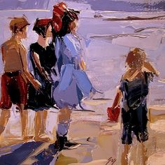 At Low Tide after Edward Henry Potthast -- Sally Cummings Shisler