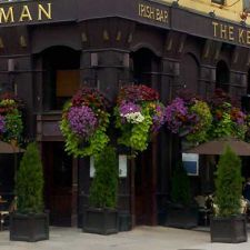 The Kerryman Irish Bar, Chicago, IL- Old Fashioned Hanging Baskets of flowers and foliage add life and dignity to any landscape.